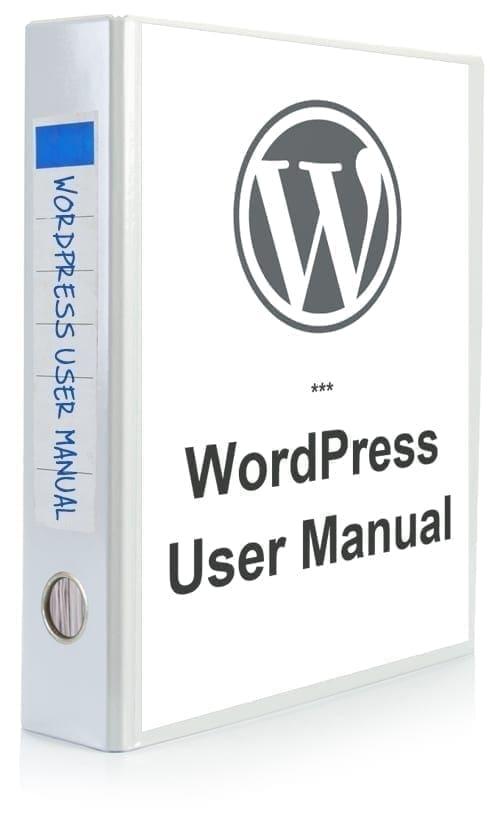 WordPress User Manual (Unbranded) [WPTM-004]
