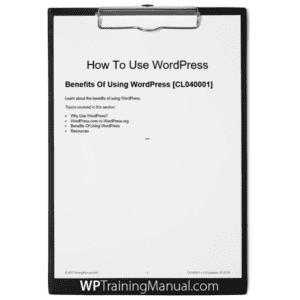 Benefits Of Using WordPress [CL040001]
