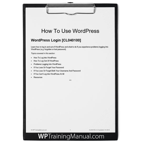 WordPress Login [CL040100]