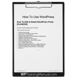 How To Edit & Delete WordPress Posts [CL040202]