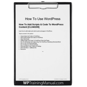 How To Add Scripts & Code To WordPress Content [CL040209]