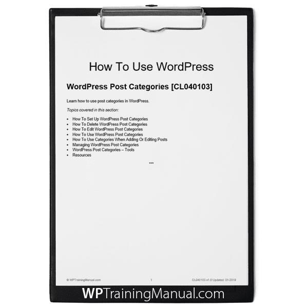 WordPress Post Categories [CL040103]
