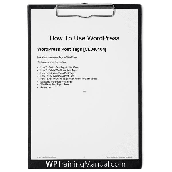 WordPress Post Tags [CL040104]