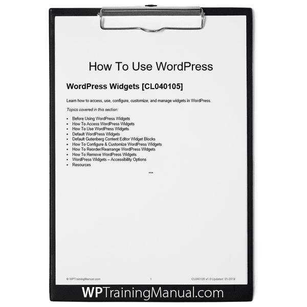 WordPress Widgets [CL040105]
