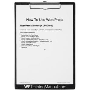 WordPress Menus [CL040106]