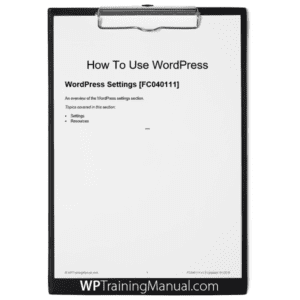 WordPress Settings [FC040111]