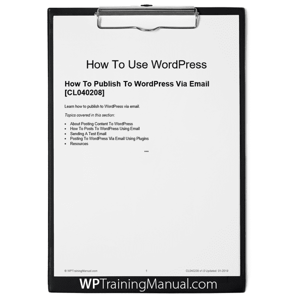 How To Publish To WordPress Via Email [CL040208]