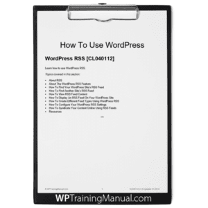 WordPress RSS [CL040112]