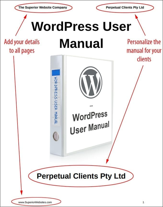 WordPress User Manual - Rebrandable